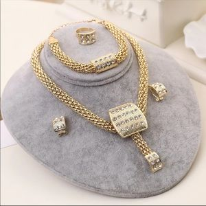 Womens  jewelry set necklace bracelet ring